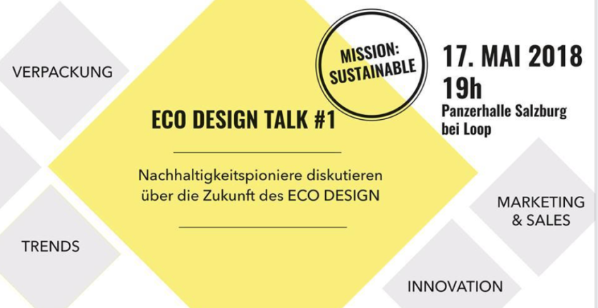 Podium speaker @ Eco Design Talk, Salzburg, Austria