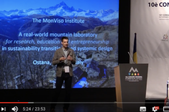 Invited speaker at the 10th UN World Mountain Tourism Congress: the MonViso Institute