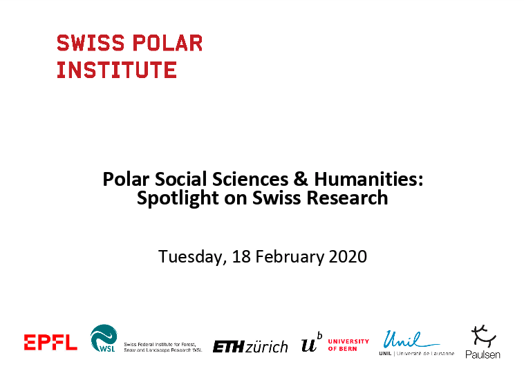 Speaking about Polar Social Science