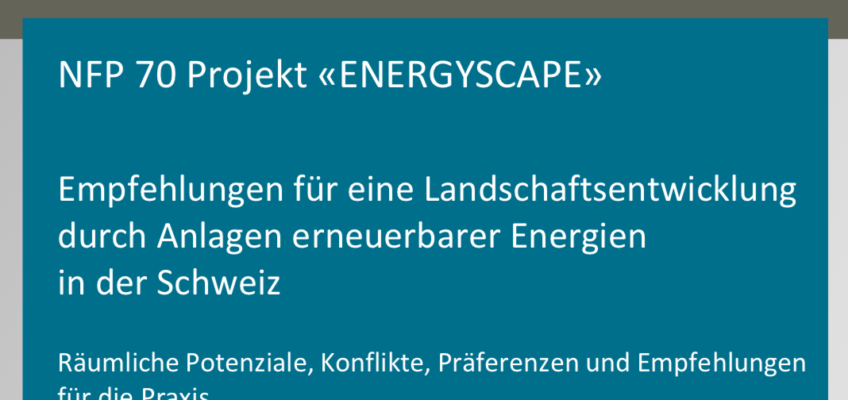 New publication on public acceptance of renewable energy infrastructure in the landscape