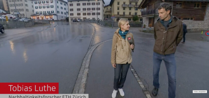 Interview with Swiss Television on designing resilient mountain communities